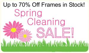 70% off frames in stock