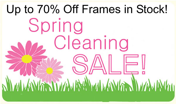 70% off frames in stock